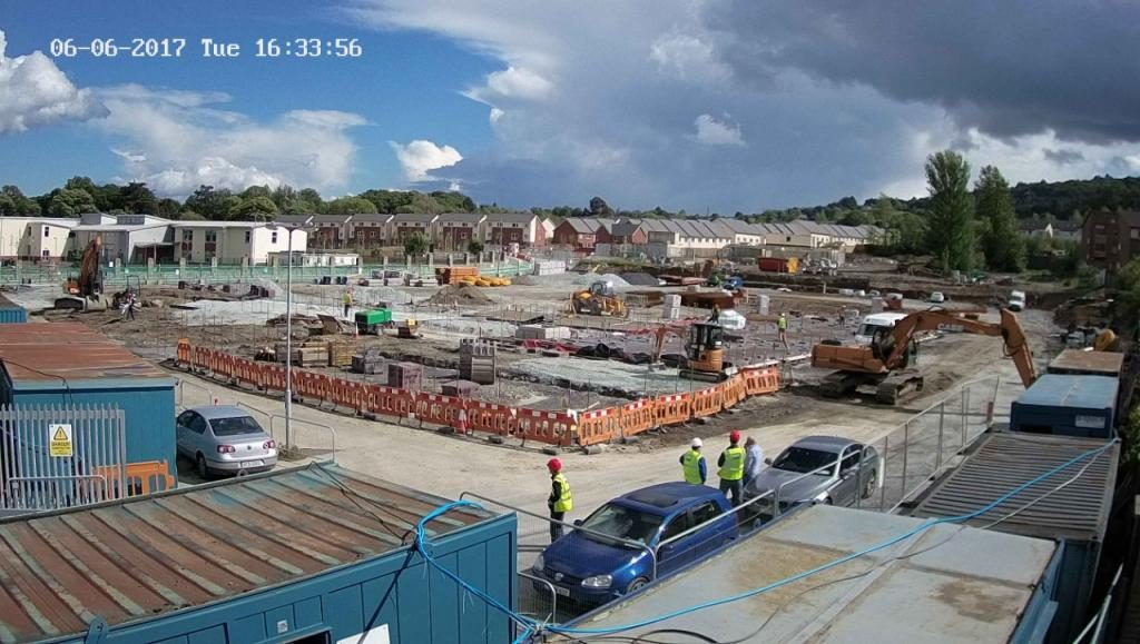 camera view of the construction site ETNS school