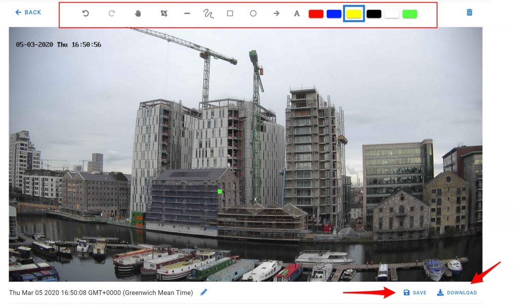 Construction Project snapshot from Evercam Dashboard