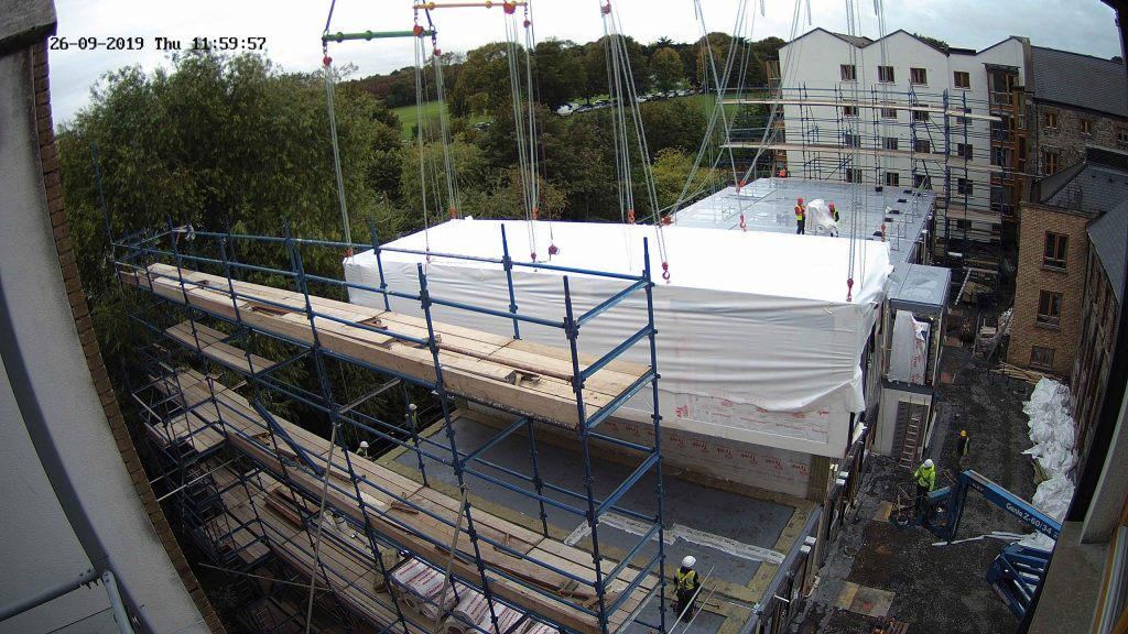 Camera view of the MHI modular home construction in progress by Evercam